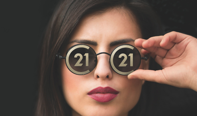 Century 21 woman with Glasses